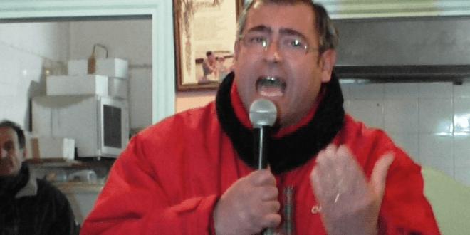 La grinta di Gennaro Savio durante il suo intervento