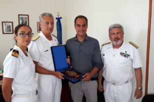 Ammiraglio Pettorino Sindaco Ambrosino Contrammiraglio Faraone TV Scaramuzzino e1535802338292